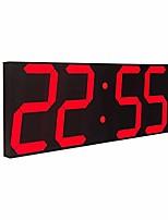"cheap -16 3/4"" jumbo wall clock led digital multi functional remote control countdown timer temperaturer, white digital on black shell"