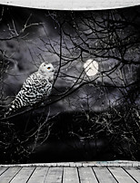 cheap -Halloween Party Holiday Wall Tapestry Art Decor Blanket Curtain Picnic Tablecloth Hanging Home Bedroom Living Room Dorm Decoration Psychedelic Owl Moon Haunted Scary Polyester