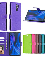 cheap -Case For Asus ZenFone Max Pro M2 ZenFone 6 ZS630KL Card Holder Shockproof  Flip Full Body Cases Solid Colored PU Leather TPU