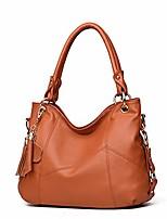 cheap -women's tote shoulder bag handbag purses satchel shoulder bags handle bag leather tassel (brown)