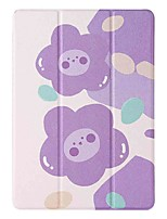cheap -Case For Apple iPad 5 (2017) 9.7'' iPad 6 (2018) 9.7'' iPad 7 (2019) 10.2'' with Stand Flip Pattern Full Body Cases Purple Flower PU Leather TPU for iPad 8 (2020) 10.2'' iPad Pro (2020) 11''