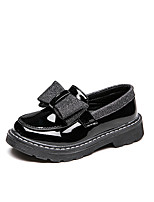 cheap -Girls' Flats Comfort / Flower Girl Shoes / Children's Day Leather Little Kids(4-7ys) / Big Kids(7years +) Bowknot / Sequin Black / Burgundy Spring / Fall / Party & Evening