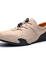 cheap -Men's Oxfords Casual Daily Outdoor Walking Shoes Faux Leather Handmade Wear Proof Light Yellow / White / Black Spring / Fall