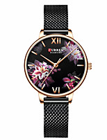 cheap -CURREN Women's Quartz Watches Quartz Butterly Style Modern Style Flower Water Resistant / Waterproof Analog Black Gold Silver / One Year / Stainless Steel / Japanese / Shock Resistant / Japanese