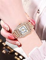 cheap -Women's Quartz Watches Quartz Stylish Glitter Sparkle Chronograph Analog Rose Gold Gold Silver / Genuine Leather