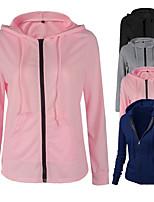 cheap -Women's Hoodie Sweatshirt Zip Up Hoodie Hoodies Pullover Hoody Black Blue Pink Zipper Minimalist Hoodie Solid Color Cute Sport Athleisure Hoodie Long Sleeve Breathable Soft Comfortable Everyday Use