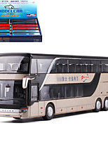 cheap -KDW 1:50 Plastic Alloy Bus Toy Car Pull Back Vehicle Simulation Music & Light All Baby & Toddler Car Toys