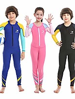 cheap -kids swimsuit, boys and girls full body sunsuit, upf50+ rash guard wetsuit, one piece full cover swimwear with front zip for swimming, snorkeling, diving