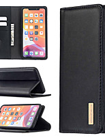 cheap -Case For iPhone 7 8 7plus 8plus X XR XS XSMax SE(2020) iPhone 11 11Pro 11ProMax iPhone 12 Card Holder Shockproof with Stand Full Body Cases Solid Colored Genuine Leather TPU