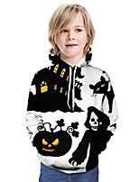 cheap -Kids Boys' Basic 3D Long Sleeve Hoodie & Sweatshirt White