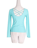 cheap -Figure Skating Fleece Jacket Women's Girls' Ice Skating Tracksuit Top Blue Glitter Spandex Stretchy Competition Skating Wear Warm Solid Colored Crystal / Rhinestone Long Sleeve Ice Skating Winter