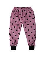 cheap -Kids Girls' Basic Polka Dot Print Pants Blushing Pink