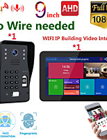 cheap -MOUNTAINONE SY909B018WF11 9 Inch Wireless WiFi Smart IP Video Door Phone Intercom System With 1x1080P Wired Doorbell Camera Support Remote Unlock