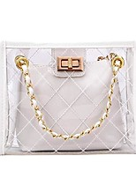 cheap -clear bags for women clear purse messenger tote shoulder bag transparent crossbody (white)