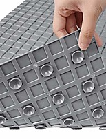 cheap -bathtub mat non slip bath mats,27.6 x 15.8inches / 70 x 40cm safety shower mats rubber bathrooms mats with drain holes and suction cups, machine washable, grey