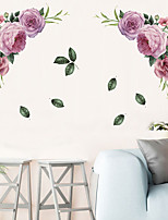 cheap -Large Peony Rose Wall Stickers DIY Vintage Flowers Wallpaper For Bedroom Living Room Decals Mural Home Decor