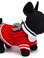 cheap -hot sale navy dog sweater 2 color size xxs-l small and large dog clothes clothing for chihuahua yorkshire (l, red)