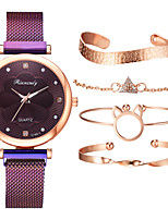 cheap -Women's Quartz Watches Quartz Stylish Casual Casual Watch Analog Black Blue Purple