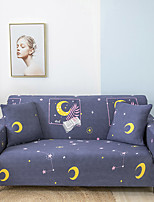 cheap -Stretch Slipcover Sofa Cover Couch Cover Moon Printed Sofa Cover Stretch Couch Cover Sofa Slipcovers for 1~4 Cushion Couch with One Free Pillow Case