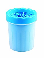 cheap -portable dog paw cleaner, dog paw cleaner cup, paw cleaner for dogs,small blue