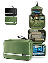 cheap -travel toiletry bag for men - hanging toiletry bag with 4 compartments, portable and waterproof compact travel bathroom organizer,ideal for travel or daily life