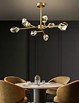 cheap -9 Head Nordic Simple Living Room Ceiling Chandelier Post Modern Luxury Creative Element Crystal Lamp Dining Room Bedroom Study Room