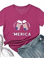 cheap -women faith family freedom usa american flag lips shirt short sleeve graphic tees funny t shirts summer tops & #40;small, star-grey& #41;