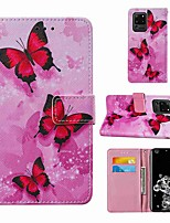 cheap -Case For Samsung Galaxy Note 20 Galaxy Note 20 Ultra Galaxy A21s Wallet Card Holder with Stand Full Body Cases Pink Butterfly PU Leather TPU for Galaxy A51 5G Galaxy A71 5G Galaxy S20 Ultra