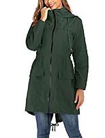 cheap -women's lightweight hooded raincoat waterproof packable active outdoor rain jacket army green 2x-large