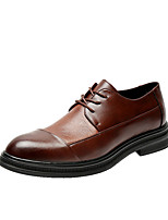 cheap -Men's Oxfords Daily Walking Shoes PU Black / Brown Spring / Fall