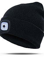 cheap -3 LED Light LED LED Beanie Hat with Light Rechargeable Emitters Rechargeable Convenient Touch Control Anti-Slip Ultra Light (UL) Camping / Hiking / Caving Fishing Outdoor White Black Blue