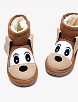 cheap -Boys' Boots Snow Boots Leather Snow Boots Little Kids(4-7ys) Walking Shoes Camel / Black Fall / Winter / Booties / Ankle Boots