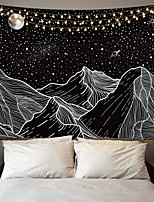 cheap -Wall Tapestry Art Decor Blanket Curtain Picnic Tablecloth Hanging Home Bedroom Living Room Dorm Decoration Polyster Starry Sky Moon Mountain Views