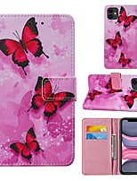 cheap -Case For Apple iPhone 12 iPhone 11 Pro Max SE 2020 XS Max XR X 7 8 Plus 6 6s Plus Wallet Card Holder with Stand Full Body Cases Butterfly PU Leather