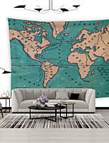 cheap -Wall Tapestry Art Decor Blanket Curtain Picnic Tablecloth Hanging Home Bedroom Living Room Dorm Decoration  Polyester World Map Ocean Current