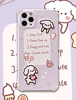 cheap -Case For iPhone 11 Pattern Back Cover Dog Word Phrase Cartoon TPU Case For iPhone 11 Pro Max / SE2020 / XS Max / XR XS 7 / 8 7 / 8 plus