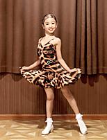 cheap -Latin Dance Dress Pattern / Print Girls' Performance Sleeveless Spandex