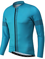 cheap -21Grams Men's Long Sleeve Cycling Jacket Yellow Red Blue Novelty Bike Jersey Top Mountain Bike MTB Road Bike Cycling UV Resistant Breathable Quick Dry Sports Clothing Apparel / Stretchy