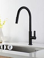 cheap -Kitchen faucet - Single Handle One Hole Electroplated / Painted Finishes Pull-out / ­Pull-down / Tall / ­High Arc Other Contemporary Kitchen Taps