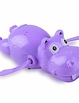 cheap -1pc wind up hippo swimming clockwork bath water toy for kids - random color