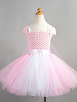 cheap -Princess Cosplay Costume Costume Girls' Movie Cosplay Tutus Plaited Vacation Dress Pink Dress Christmas Halloween Carnival Polyester / Cotton Polyester