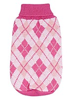 cheap -pet clothes, small medium dog pet sweater knitting jacket sleeveless clothes winter (pink)