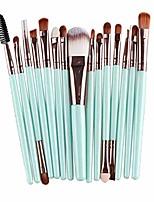 cheap -15pcs makeup brush set,lavany make up brushes set foundation powder eyeshadow eyeliner cosmetics tools make-up toiletry kit wool brush for women girls & #40;mint green& #41;