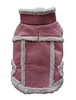 cheap -dog fleece jacket winter dog warm vest coats cold weather dog clothes for small dogs (pink)