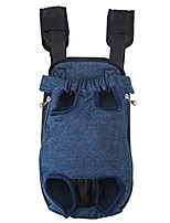 cheap -legs out front-facing dog carrier hands-free adjustable pet puppy cat backpack carrier for walking hiking bike and motorcycle (medium, denim blue)