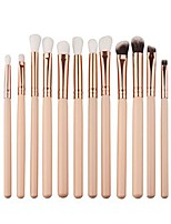 cheap -12pcs mini cosmetic eyebrow eyeshadow brush makeup brush sets kits tools & #40;beige& #41;