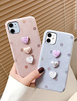 cheap -Case For iPhone 11 Shockproof Back Cover Solid Colored / Heart / 3D Cartoon TPU TPU For Case 7/8/7P/8P/X/XS/XS MAX/SE 2020/11 PRO/11PRO MAX