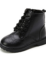 cheap -Boys' Girls' Boots Combat Boots PU Little Kids(4-7ys) Big Kids(7years +) Walking Shoes Black Brown Fall Winter / Booties / Ankle Boots / Rubber