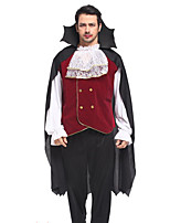 cheap -Vampire Cosplay Costume Party Costume Adults' Men's Cosplay Halloween Halloween Festival / Holiday Polyester Black Men's Easy Carnival Costumes / Top / Pants / Cloak / Top / Pants