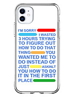 cheap -Case For Apple iPhone 12 / iPhone 12 Mini / iPhone 12 Pro Max Shockproof / Pattern Back Cover Word / Phrase TPU